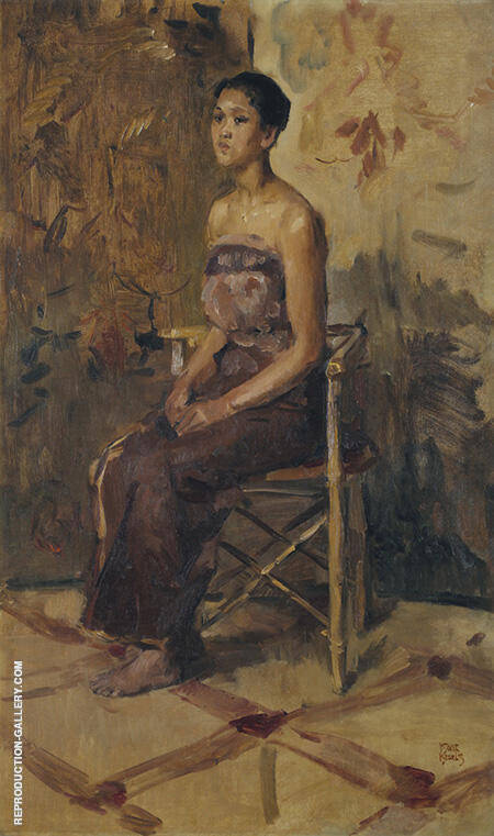 Reproduction of Portrait of A Seat by Isaac Israels | Oil Painting Replica On CanvasReproduction Gallery