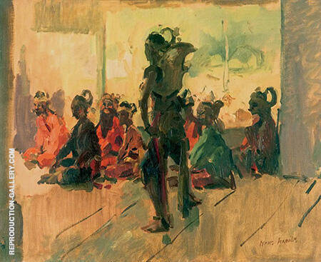 Wayang By Isaac Israels - Oil Paintings & Art Reproductions - Reproduction Gallery