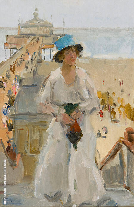 Summer in The Hague By Isaac Israels - Oil Paintings & Art Reproductions - Reproduction Gallery