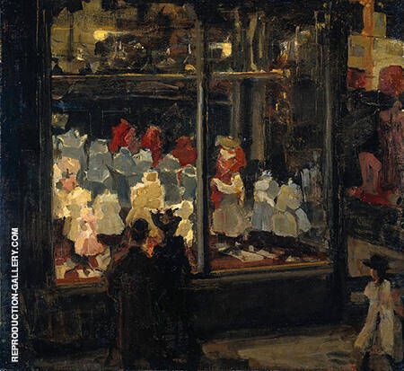 Shop Window c1894-98 By Isaac Israels - Oil Paintings & Art Reproductions - Reproduction Gallery