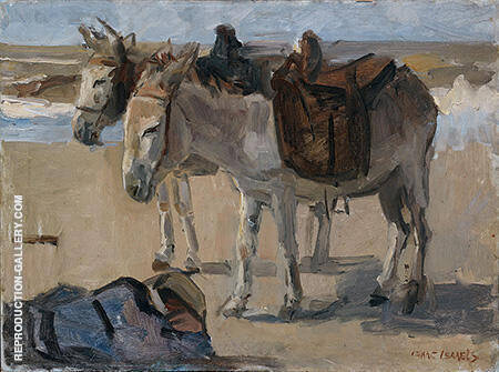 Two Donkeys c1897-1901 By Isaac Israels - Oil Paintings & Art Reproductions - Reproduction Gallery