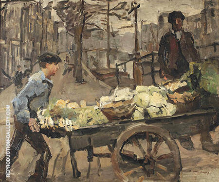 A Vegetable Seller on the Brouwersgracht By Isaac Israels
