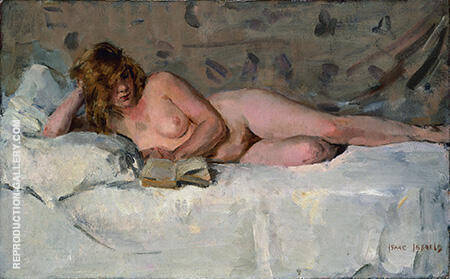 Reclining Nude Sjaantje of Ingen 19th century By Isaac Israels