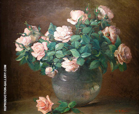 Roses c1882 By Charles E Porter - Oil Paintings & Art Reproductions - Reproduction Gallery