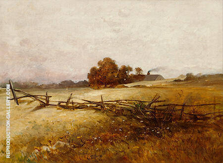 Autumn Landscape c1890 By Charles E Porter - Oil Paintings & Art Reproductions - Reproduction Gallery