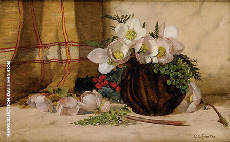 Still Life with Roses By Charles E Porter - Oil Paintings & Art Reproductions - Reproduction Gallery