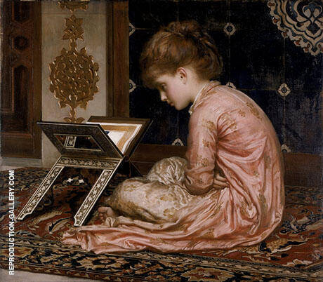 Study at Reading Desk 1877 By Frederick Lord Leighton