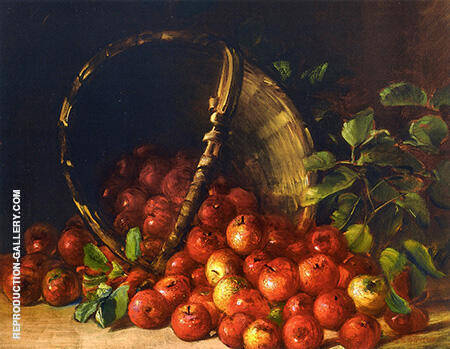 Apples in an Overturned Basket By Charles E Porter