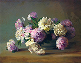 Peonies in a Bowl By Charles E Porter