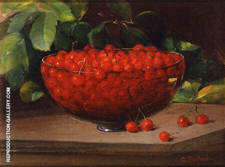 Bowl of Cherries c1890 By Charles E Porter