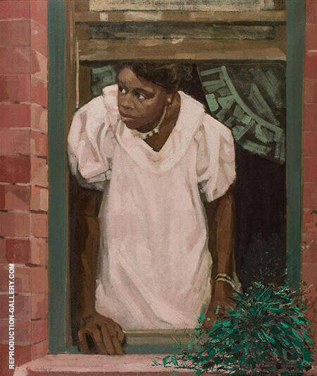 Window By Ernest Crichlow - Oil Paintings & Art Reproductions - Reproduction Gallery