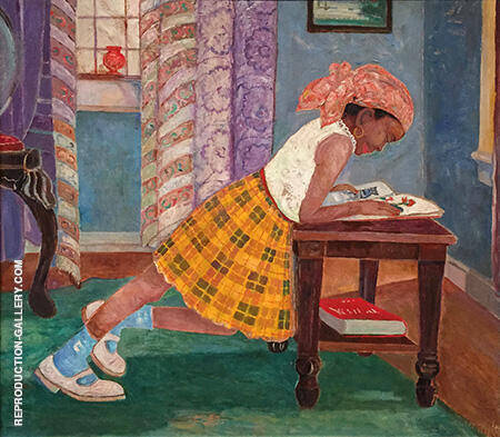 Among Them is Young Girl Reading 1960 By Palmer Hayden