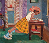 Young Girl Reading 1960 By Palmer Hayden