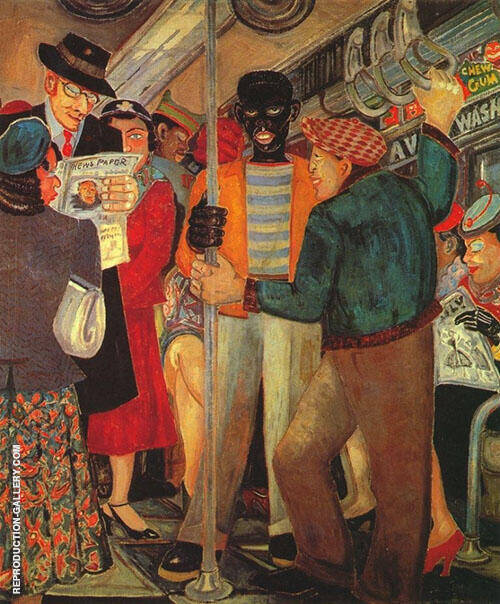 The Subway 1930 By Palmer Hayden