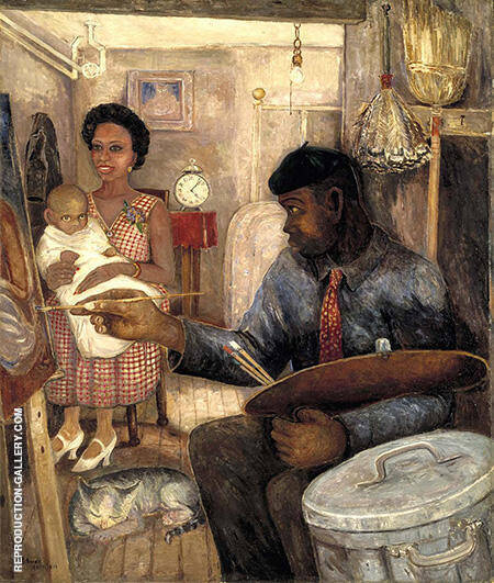 The Janitor Who Paints c1939-40 By Palmer Hayden