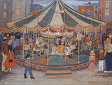 Carousel 1953 By Palmer Hayden