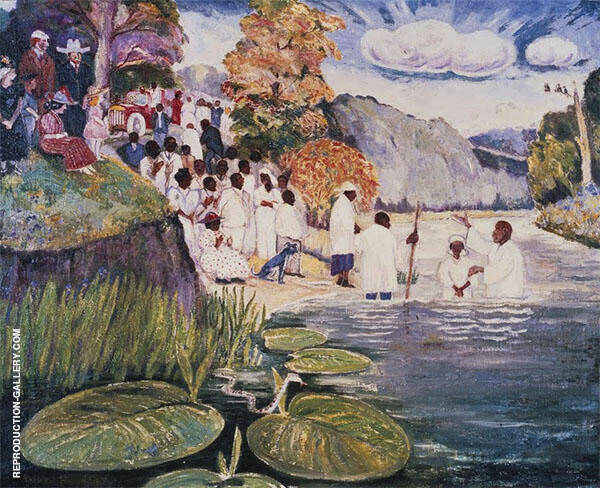 Baptizing Day 1945 Painting By Palmer Hayden - Reproduction Gallery