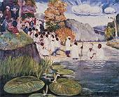 Baptizing Day 1945 By Palmer Hayden