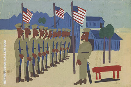 Training for War By William H Johnson - Oil Paintings & Art Reproductions - Reproduction Gallery