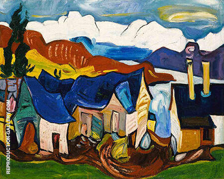 Chalet in the Mountains c1938 By William H Johnson