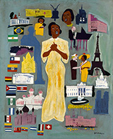 Marian Anderson c1945 By William H Johnson