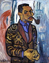 Self-Portrait with Pipe 1937 By William H Johnson