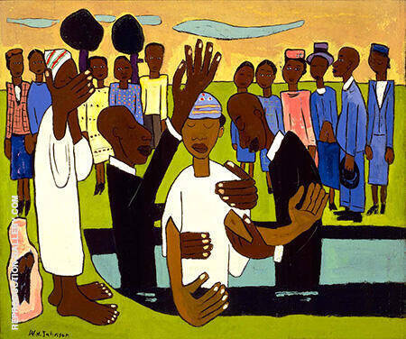 I Baptize Thee By William H Johnson - Oil Paintings & Art Reproductions - Reproduction Gallery