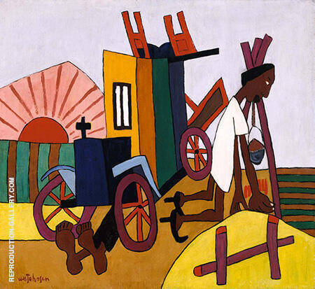 The Breakdown c1940 Painting By William H Johnson - Reproduction Gallery
