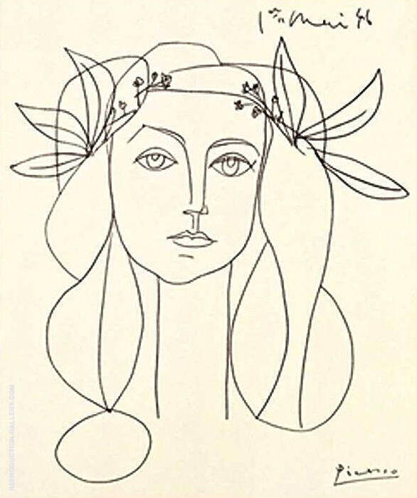 Head of a Woman 1946 By Pablo Picasso