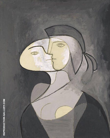 Marie-Therese Face and Profile 1831 By Pablo Picasso - Oil Paintings & Art Reproductions - Reproduction Gallery