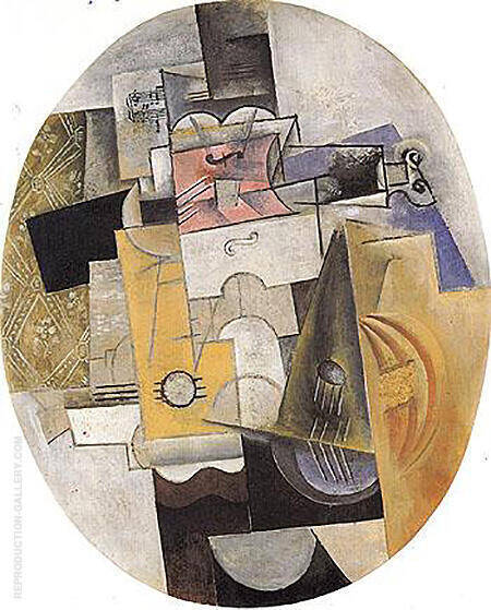 Musical Instruments 1912 By Pablo Picasso - Oil Paintings & Art Reproductions - Reproduction Gallery