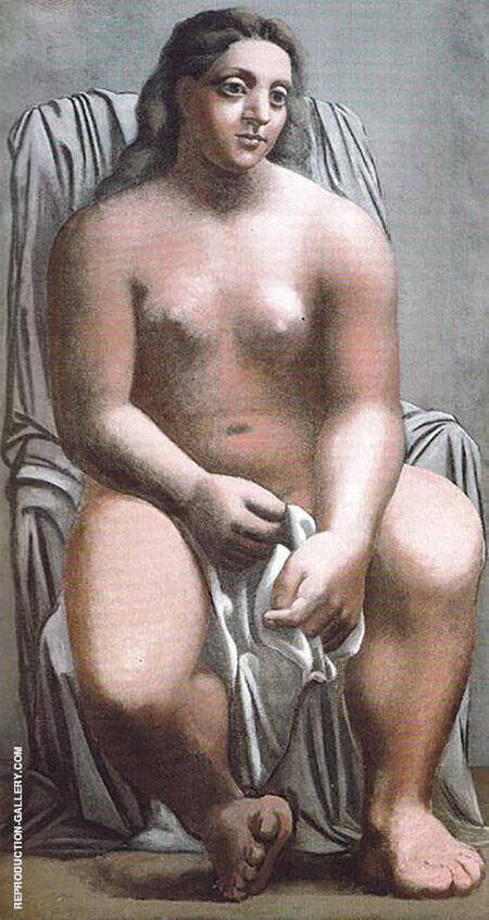 The Large Bather 1921 By Pablo Picasso - Oil Paintings & Art Reproductions - Reproduction Gallery