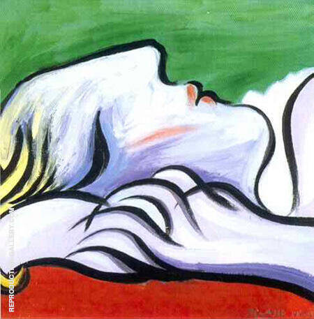 Asleep 1932 By Pablo Picasso - Oil Paintings & Art Reproductions - Reproduction Gallery