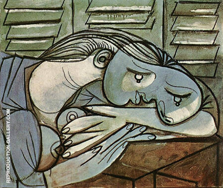 Sleeping Before Green Shutters 1936 By Pablo Picasso - Oil Paintings & Art Reproductions - Reproduction Gallery