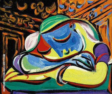 Jeun Fille Endormie By Pablo Picasso - Oil Paintings & Art Reproductions - Reproduction Gallery