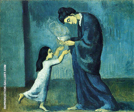 The Soup c1902-03 By Pablo Picasso - Oil Paintings & Art Reproductions - Reproduction Gallery