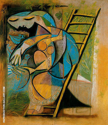 Farmer's Wife on a Stepladder 1933 By Pablo Picasso - Oil Paintings & Art Reproductions - Reproduction Gallery