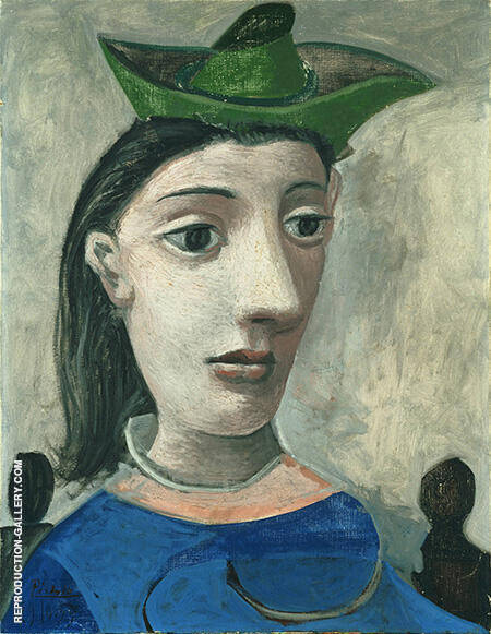 Woman with Green Hat By Pablo Picasso - Oil Paintings & Art Reproductions - Reproduction Gallery