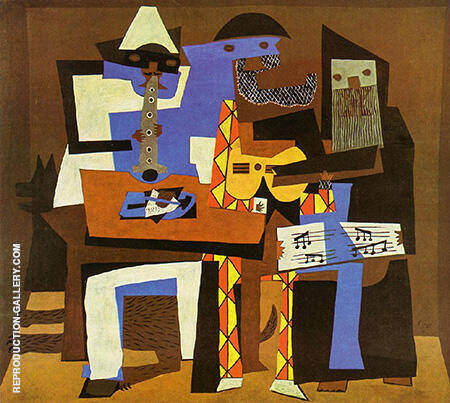 Three Musicians By Pablo Picasso - Oil Paintings & Art Reproductions - Reproduction Gallery
