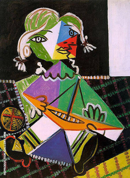 Girl with a Boat 1938 By Pablo Picasso - Oil Paintings & Art Reproductions - Reproduction Gallery