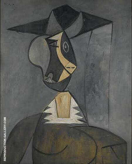 Woman in Gray 1942 By Pablo Picasso - Oil Paintings & Art Reproductions - Reproduction Gallery