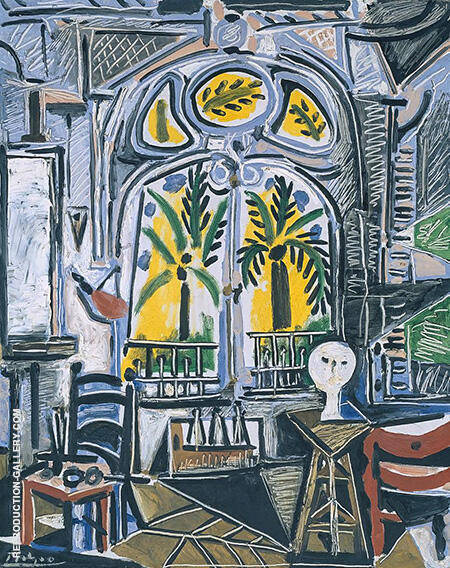 The Studio By Pablo Picasso - Oil Paintings & Art Reproductions - Reproduction Gallery