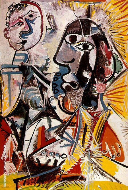 Large Heads 1969 By Pablo Picasso - Oil Paintings & Art Reproductions - Reproduction Gallery