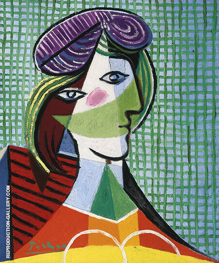 Head of Woman 1935 By Pablo Picasso - Oil Paintings & Art Reproductions - Reproduction Gallery