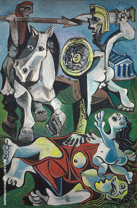 Rape of the Sabine Women 1962 By Pablo Picasso - Oil Paintings & Art Reproductions - Reproduction Gallery