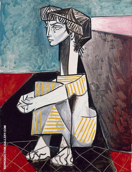 Jacqueline with Crossed Hands 1954 By Pablo Picasso - Oil Paintings & Art Reproductions - Reproduction Gallery