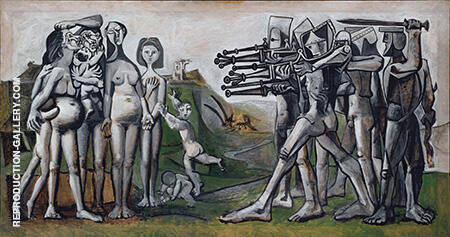 Massacre in Korea 1951 By Pablo Picasso - Oil Paintings & Art Reproductions - Reproduction Gallery
