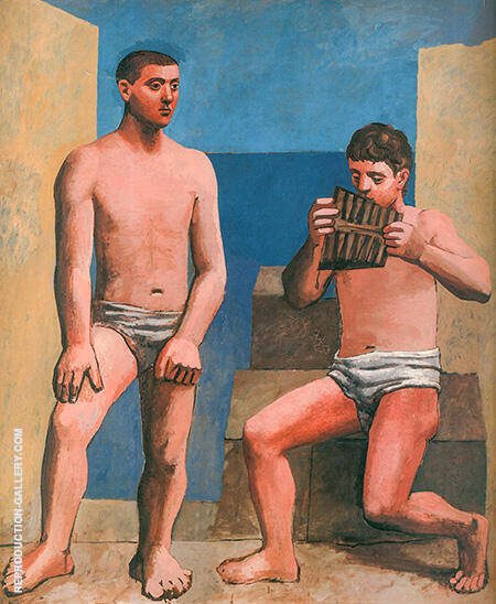 The Pipes of Pan 1923 By Pablo Picasso - Oil Paintings & Art Reproductions - Reproduction Gallery