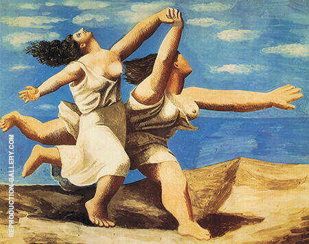 Women Running on the Beach 1922 By Pablo Picasso - Oil Paintings & Art Reproductions - Reproduction Gallery