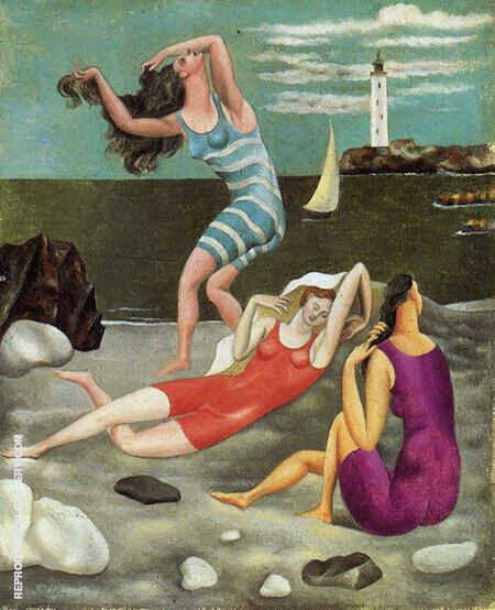Women Bathing 1918 By Pablo Picasso - Oil Paintings & Art Reproductions - Reproduction Gallery